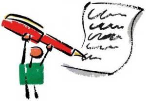 Cartoon of pen